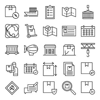 Pakiet ikon logistycznych