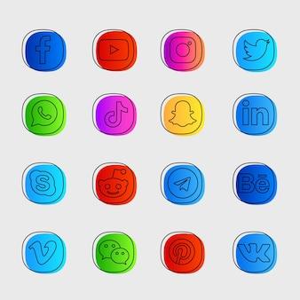 Pakiet ikon mediów społecznościowych