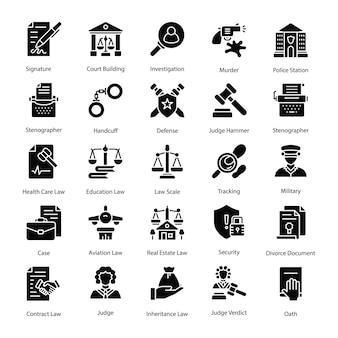 Pakiet ikon prawa i sprawiedliwości