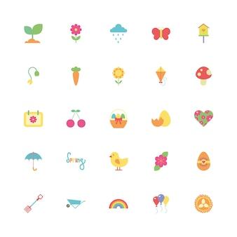 Pakiet ikon wiosna zestaw
