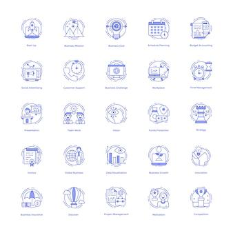 Pakiet ikon zarządzania przedsiębiorstwem