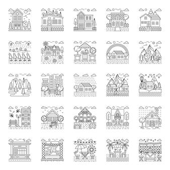 Pakiet ilustracji pogodowych