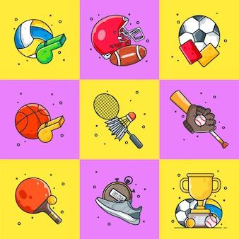 Pakiet ilustracji sportowych
