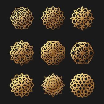 Pakiet ilustracji wektorowych mandali