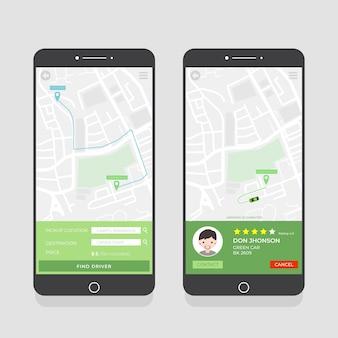 Pakiet interfejsu aplikacji taksówek