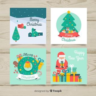 Pakiet kart z płaskim nowym rokiem