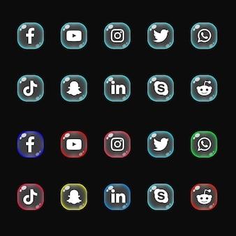 Pakiet kolekcji ikon mediów społecznościowych