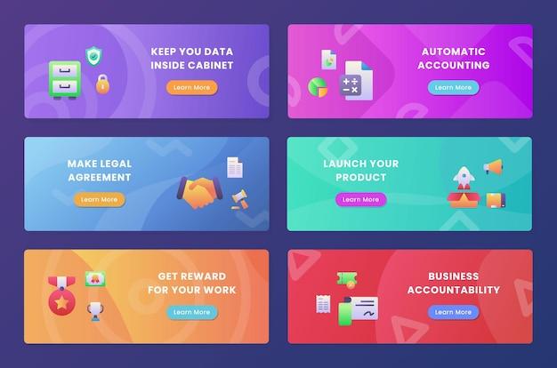 Pakiet Kolekcji Zestawu Odpowiedzialności Biznesowej Premium Wektorów