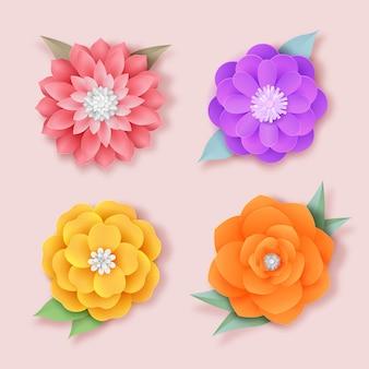 Pakiet kolorowych wiosennych kwiatów