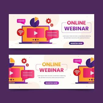 Pakiet kreatywnych banerów na seminarium internetowe