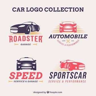 Pakiet kreatywnych samochodów logo
