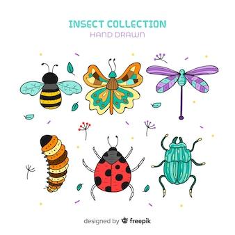 Pakiet kreskówka owadów