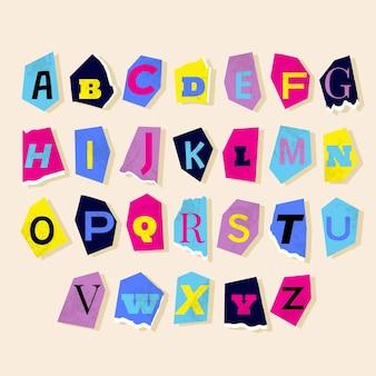 Pakiet listów z listem okupu w stylu papieru