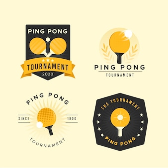 Pakiet logo do tenisa stołowego