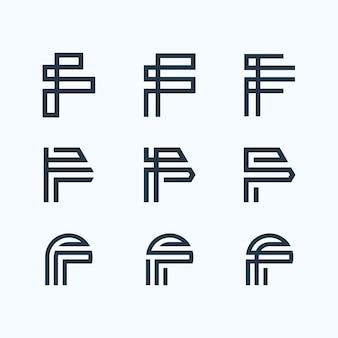 Pakiet logo litery f.