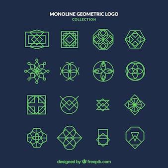 Pakiet logo monolinu ciemnozielonego