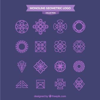 Pakiet logo monolinu purpurowego