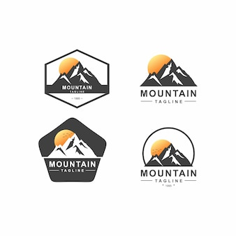 Pakiet logo mountain badge