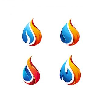 Pakiet logo ropy naftowej i gazu