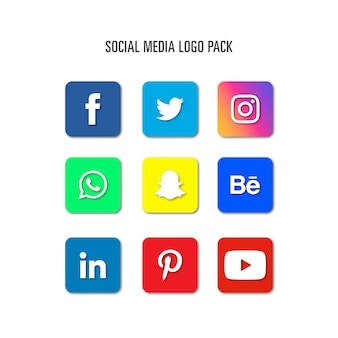 Pakiet logo social media