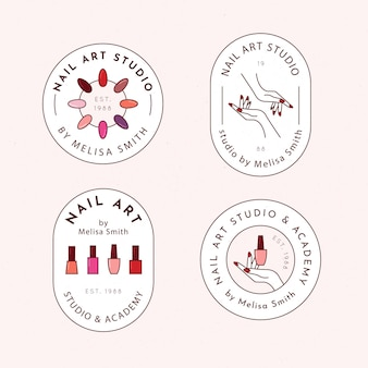 Pakiet logo studia sztuki paznokci