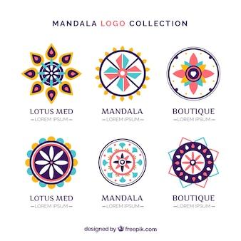 Pakiet mandali logo dekoracyjne