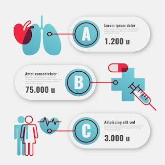 Pakiet medyczny infographic