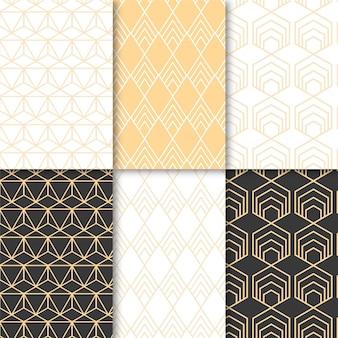 Pakiet minimalistycznego wzoru geometrycznego