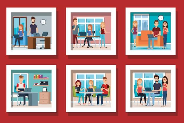 Pakiet młodych ludzi w miejscu pracy