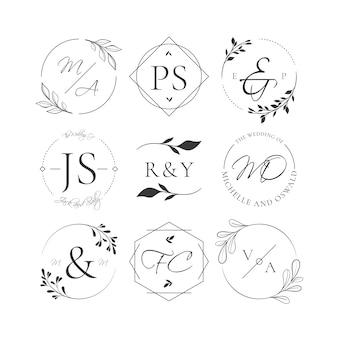 Pakiet monogramów weselnych