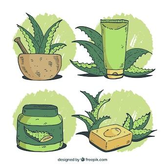 Pakiet mydła i innych kosmetyków aloe vera