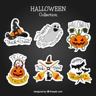 Pakiet nalepek halloween naklejonych ręcznie