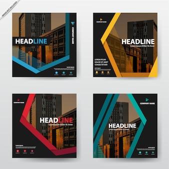 Pakiet nowoczesny zestaw szablonów ulotki broszury