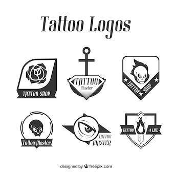 Pakiet nowoczesnych logo tatuaż