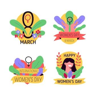 Pakiet odznak na międzynarodowy dzień kobiet