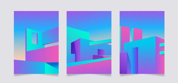 Pakiet okładek o minimalnej architekturze