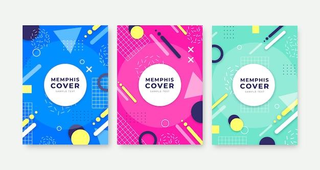 Pakiet okładek projektu memphis