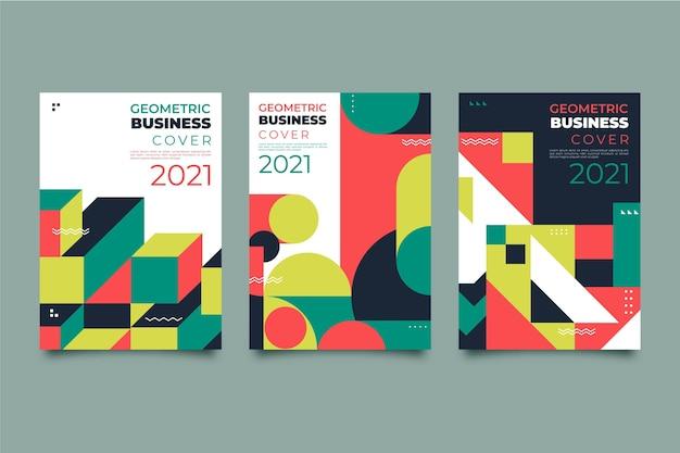 Pakiet okładek streszczenie geometryczny biznes
