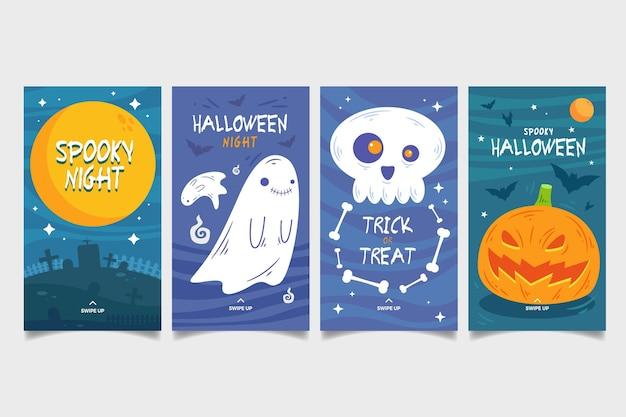 Pakiet Opowiadań Na Instagramie Z Festiwalu Halloween Darmowych Wektorów