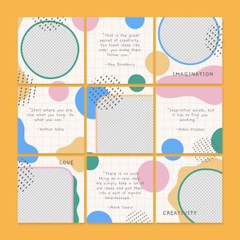 Pakiet paszy z puzzlami do mediów społecznościowych