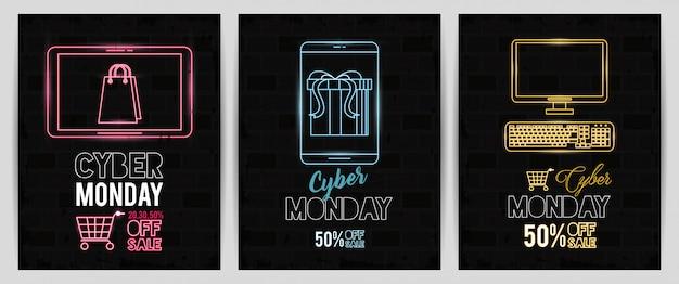 Pakiet plakatów cyber poniedziałkowych