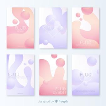 Pakiet plakatowy o dynamicznych kształtach