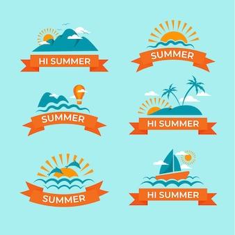 Pakiet płaskich letnich odznak