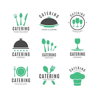 Pakiet płaskich logo gastronomicznych