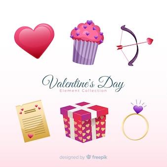 Pakiet płaskie valentine elementów