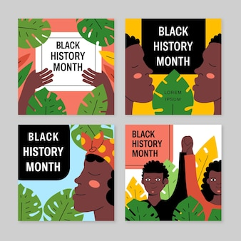 Pakiet postów na instagramie z miesiąca czarnej historii