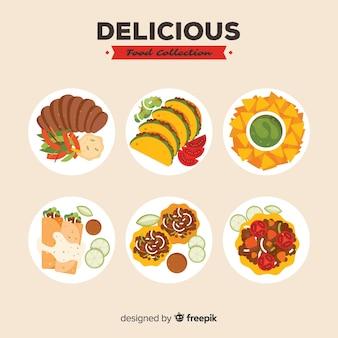 Pakiet pysznych potraw do jedzenia