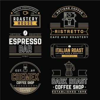 Pakiet retro logo kawiarni