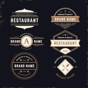 Pakiet retro logo restauracji