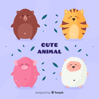 Pakiet różnych uroczych zwierzątek